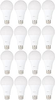 AmazonBasics 100 Watt Equivalent, Daylight, Dimmable, A21 LED Light Bulb | 16-Pack