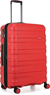 Antler Juno 2 4W Medium Roller Suitcase Hardside, Red, 68cm