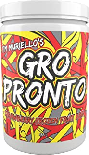 Tim Muriello's GROPRONTO BCAA - EAA - Enzymes - (Strawberry) - Muscle Recovery - Intra Workout - Post Workout - Super Delicious - High Leucine - Essential Amino Acids - Muscle Repair Growth Powder