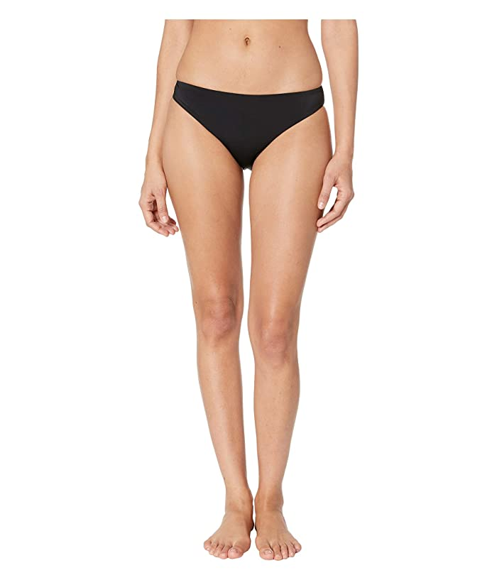 THE BIKINI LAB Solids Cinched Back Hipster (Black) Women