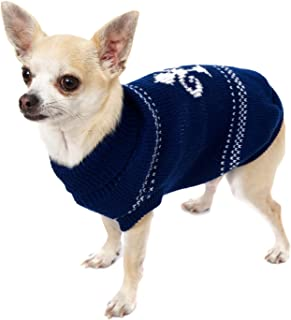 UrbanPup Fleur-De-Lis Sweater (X-Small - Dog Body Length: 8