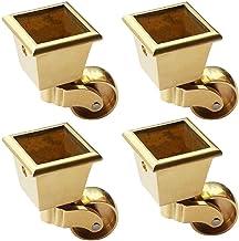 4 stks Meubilair Casters Metalen Swivel Casters Wielen, koperen wielen, vierkante meubels Caster, laad 440 lbs, voor piano...