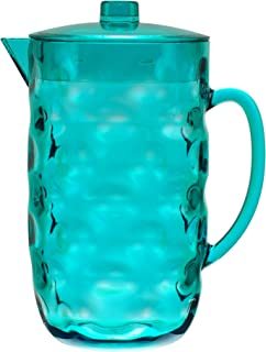 QG Acrylic Plastic Pitcher with Lid BPA Free - Great for Iced Tea & Water - Blue - 0.63 Gallon / 80 oz. / 2.5 Quart