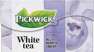 Pickwick White Tea Blueberry Ginger, Witte Thee met Blauwe Bes en Gember (240 Theezakjes, 100% Natuurlijk), 12 x 20 Zakjes