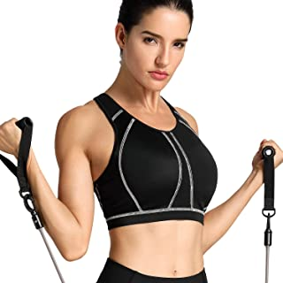 Women's High Impact Padded Supportive Wirefree Full Coverage Sports Bra