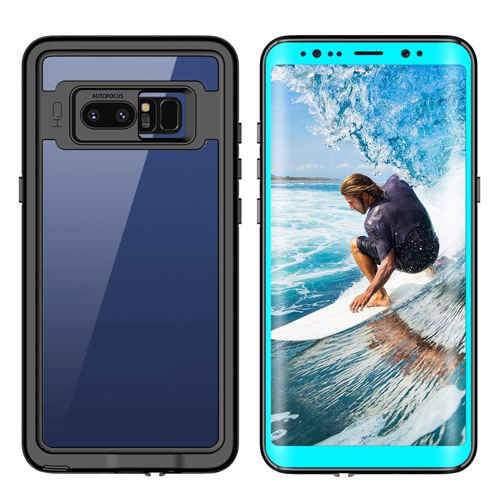 Samsung Galaxy Note 8 Waterproof Case Shockproof Dustproof Snowproof Full-Body Underwater Protective Box Rugged Cover with Kickstand and Built in Screen Protector for Galaxy Note8