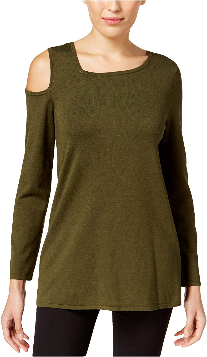 Alfani Women's Asymmetrical ColdShoulder Sweater