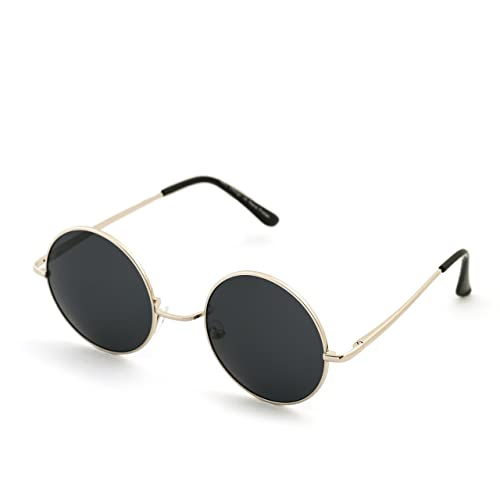 fab04c3232 Morefaz Round Lennon Glasses Steampunk Sunglasses 50s Cyber Goggles Vintage  Retro Style Hippy Ganja Weed Leaf