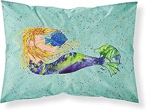 Caroline's Treasures 8336PILLOWCASE Mermaid Moisture Wicking Fabric Standard Pillowcase, Large, Multicolor