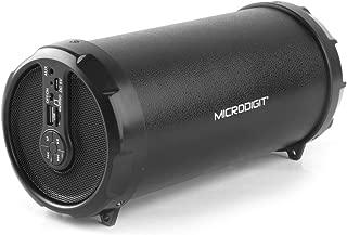 Microdigit Bluetooh Portable Drum Speakers, Black, M0054RT