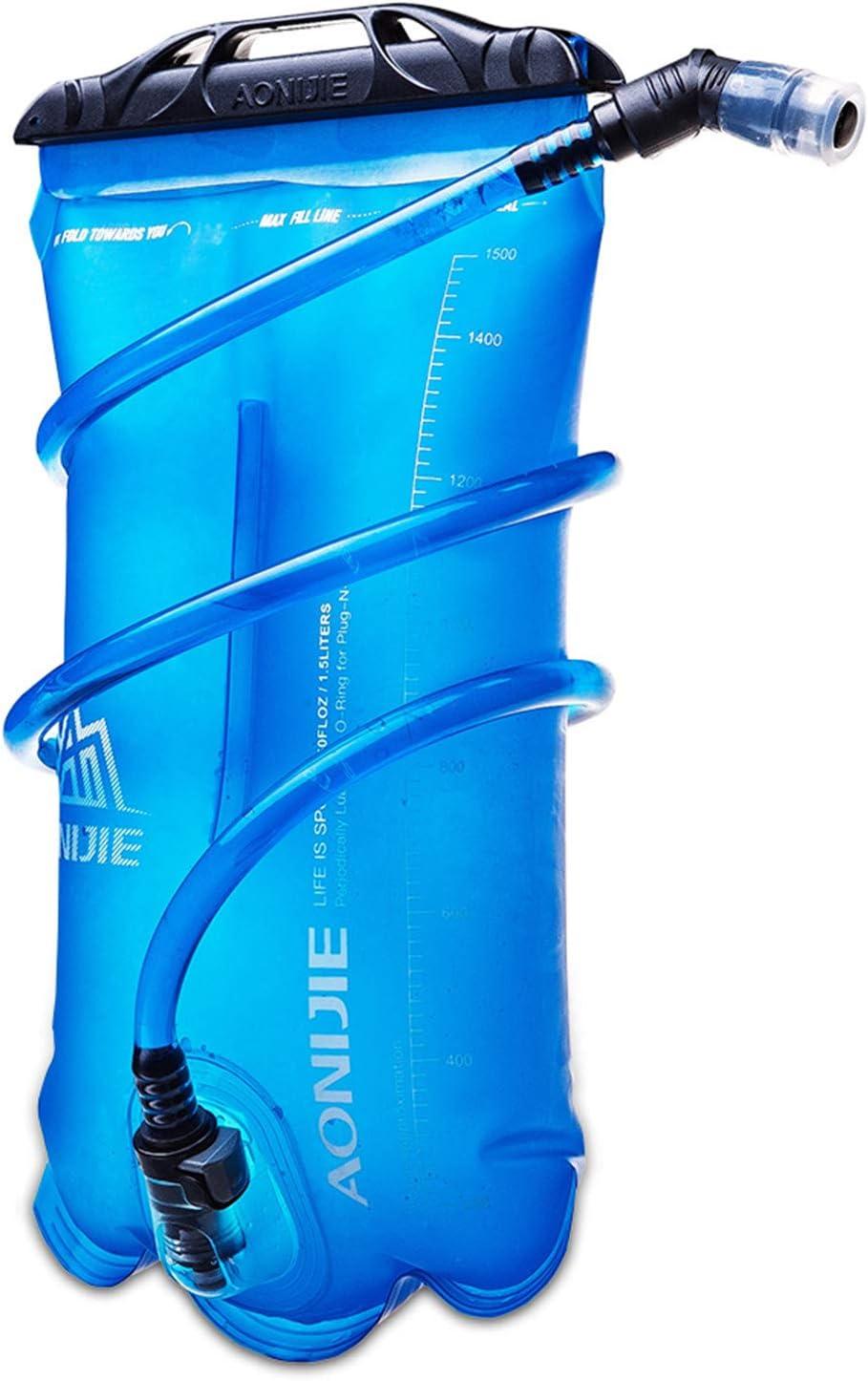 Water Bag Sport 1.5L//2L//3L Outdoor Foldable TPU Hydration Bladder Camping Hiking