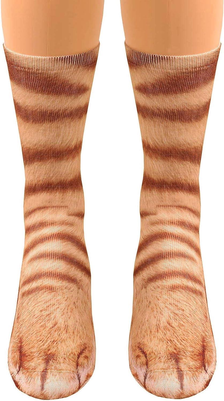 Folouse 5 popular Unisex Animal Paw Socks 3D Max 88% OFF Novelty Print Crew