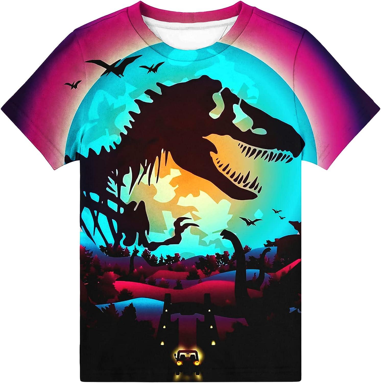 Hgvoetty Boys Girls 3D Shirts Shor Kids Graphic free 5% OFF T-Shirt Crewneck