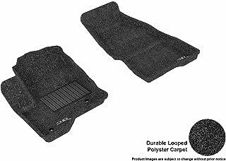 3D MAXpider Front Row Custom Fit Floor Mat for Select Ford Flex Models - Classic Carpet (Black)