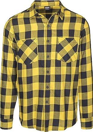 Urban Classics Checked Flanell Shirt Camisa de Franela a Cuadros TB297 para Hombre