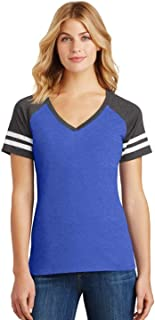 District Made womens Game V-Neck Tee (DM476)