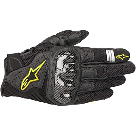 Alpinestars Motorradhandschuhe Smx 1 Air V2 Gloves Black Yellow Fluo Schwarz Gelb L 3570518155 L Auto
