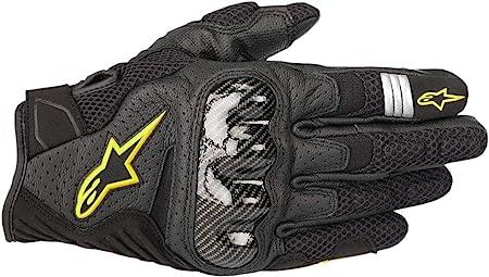 Alpinestars Motorradhandschuhe Smx 1 Air V2 Gloves Black Yellow Fluo Schwarz Gelb 3xl Auto