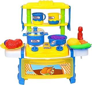 子供たちはABSプラスチックキッチン玩具を組み立て、調理するふりをし、リアルな調理器具、カラフルなアクセサリー、親子相互作用をします。
