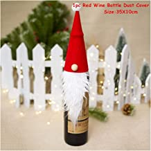 Holiday Christmas Tree New YearSanta Claus Snowman Wine Bottle Cover Noel Christmas Decoration for Home Dinner Decor Tree ...