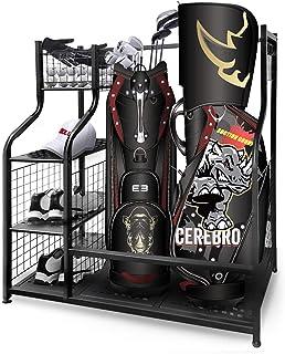 سازمان دهنده گاراژ ذخیره سازی گلف Mythinglogic ، پایه نگهداری کیف دو گلف و سایر قفسه های تجهیزات گلف