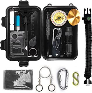 LGCBO Gifts for Men Dad Husband Boyfriend him,Survival Gear and Equipment,Emergency Survival Kit 15 in 1,Cool Birthday Gif...