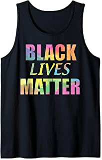 Black Lives Matter- tie-dye lettering Men Women & Kids sizes Tank Top