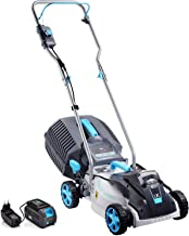 swift EB132CP2 40V Cordless LawnMower, 32cm Cutting Width Lightweight Battery Rotary Lawn Mower with 30 Litre Grass Box, C...