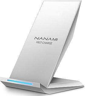 NANAMI Cargador Inalámbrico Rápido, Qi Inalámbrica Carga Rápida 10W y Estándar 5W para iPhone XS/XS MAX/XR/ X/ 8 Plus/ 8, Wireless Quick Charger para Samsung Galaxy S9+ S9 S8 Plus S8 S7 Note8, etc.