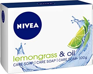 NIVEA Lemongrass & Oil Soap Bar, Jojoba Oil, Lemongrass Scent, 100g