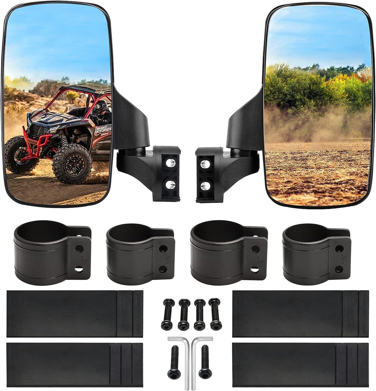 BETOOLL Upgraded Adjustable Pair UTV 2021 new Side Mirror Set 2in or depot 1.75
