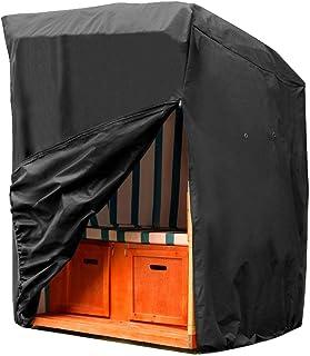 SIRUITON Funda Protectora para sillón de Playa (Oxford 420 D), Silla de Mimbre, Cubierta Protectora Impermeable para la Silla de Playa de Mimbre.