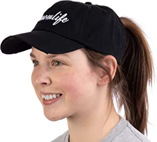 #Momlife | Ponytail Dad Hat Funny Cute Mom Life Mommy Mother Pony Tail Low Cap