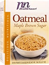 HealthSmart High Protein Maple Brown Sugar Oatmeal, 15g Protein, Low Calorie, Low Carb, Low Fat, Sugar Free, Instant Diet ...