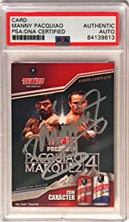 2012 Tecate Beer Manny Pacquiao Pacman Marquez Signed Trading Card - PSA/DNA Certified - Autographed Boxing Cards