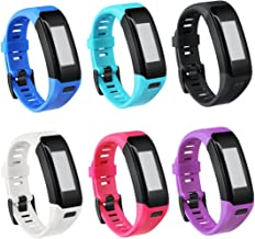 TECKMICO Garmin Vivosmart HR Bands,6PCS Colorful Replacement Bands for Garmin Vivosmart HR,NO Tracker