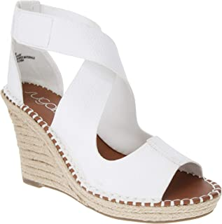 Women's Hazee Espadrille Wedge Sandal with Cross Straps and Adjustable Closure