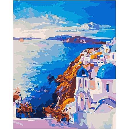 Dipingi Con I Numeri Per Adulti Grecia Paesaggio Dipingi Per Dipingere In Base Ai Numeri Con