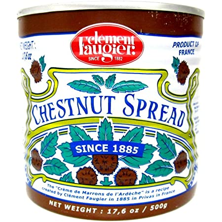 Clement Faugier Gourmet Chestnut Spread From France Vanilla 17.5 oz