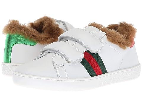 3198b342807 Gucci Kids New Ace Faux Fur Sneaker (Little Kid Big Kid) at Luxury ...