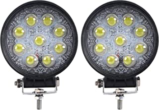 LED Light Bar, Northpole Light 2x 27W Waterproof Spot LED Light Bar 5D Lens Work Light, Jeep Off-road Light Bar with Mounting Bracket for Off-road Truck Car ATV SUV Jeep Boat 4WD ATV