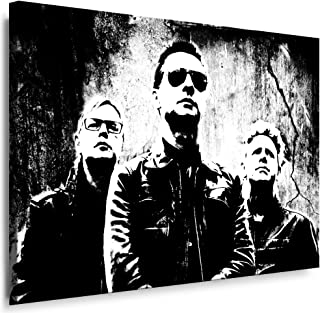 Fotoleinwand24 Kunstdruck Depeche Mode Leinwandbild fertig auf Keilrahmen/Leinwandbilder, Wandbilder, Poster, Pop Art Gemälde, Kunst - Deko Bilder
