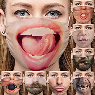 Funny Face Mask-Breathable Comfort, Reusable and Washable, Unisex Filter Dust Cloth Face Mask