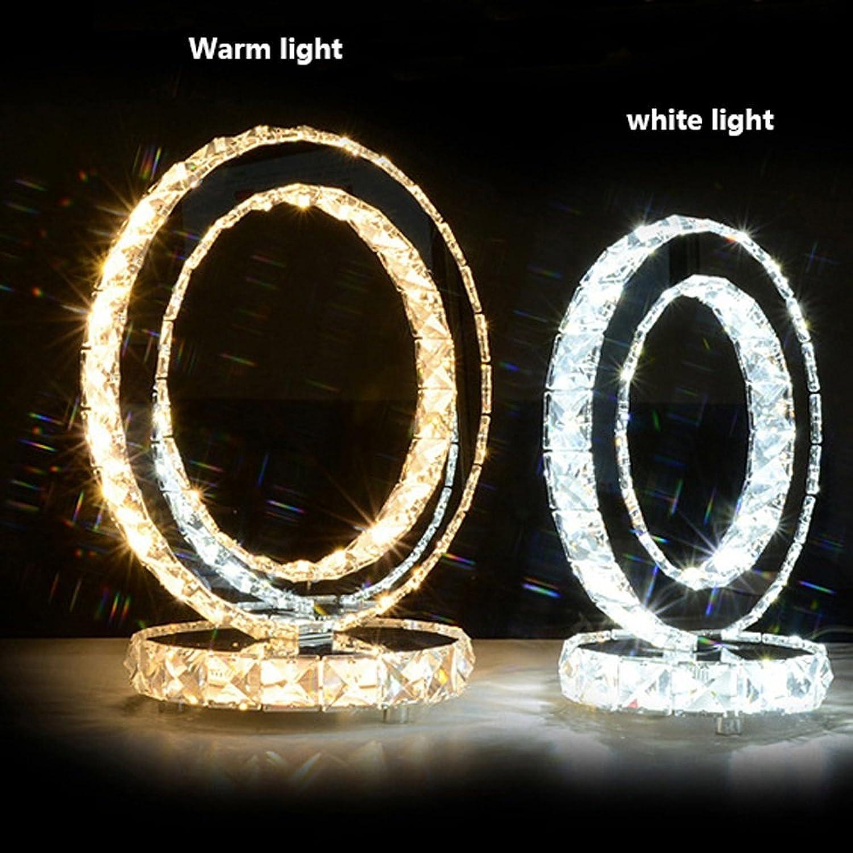 LED Kristall Tischlampe Dimmbare Schlafzimmer Nachttisch Wohnzimmer Edelstahl Lampen Moderne Einfache Mode Hochzeit Beleuchtung 1 Einzelne Lampe (gre   S)