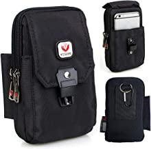 VIIGER Multi-Purpose Smartphone Pouch Belt Loop Phone Pouch Cell Phone Belt Holster Carrying Case Clip Tactical Waist Bag EDC Molle Belt Pouch Security Purse Compatible for iphone Xs Max 6 6s 7 8 Plus