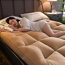 Thick Mattress Cover Feather Futon Tatami Mat Japanese Mattress Premium Hotel Quality Plush-10cm-Hypoallergenic-Camel 120x...