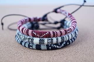 3x Anklets for women Ankle Bracelet Surfer Anklet beach summer indian boho adjustable girls Foot chain ankle Handmade - white black