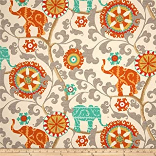 WAVERLY Sun N Shade Menagerie Outdoor Fabric, Cayenne
