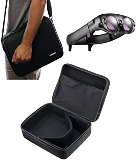 Navitech Black Hard Carry Bag/Case/Cover with Shoulder Strap Compatible with The VR/Virtual Reality 3D headsets Including TheMagic Leap One AR Glasses