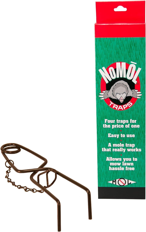 Wildlife Cheap SALE Start Control security Supplies NoMol Mole 4 - Pack Trap